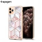 Spigen Ciel Etoile back cover case with 9H tempered glass back part for Apple iPhone 11 Pro Pink Marble