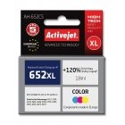 Activejet AH-652CS ink (replacement for HP 652 F6V24AE Premium 18 ml color)