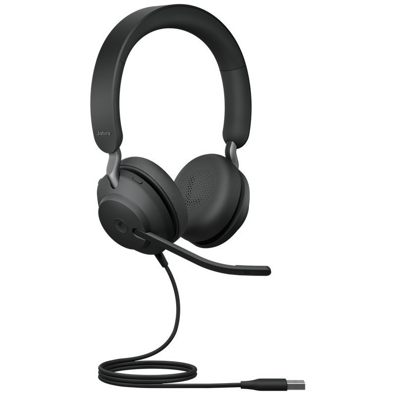 Jabra Evolve2 40 Stereo Usb A Ms Headset Black Frog Ee