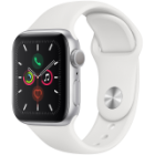 Apple Watch Series 5 GPS, 40mm Silver Aluminium Case with White