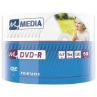 My Media DVD-R Wide Silver Inkjet Printable No ID Brand