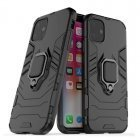 TakeMe Armor back cover case with stand / finger ring / magnet element for car holder for Apple iPhone 11 Black