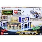 Bburago City Deluxe play set, fast food and police station