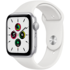 Apple Watch SE GPS, 44mm Silver Aluminium Case with White Sport