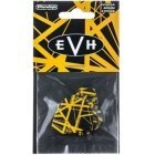 Dunlop EVH plectra, black with yellow patterns
