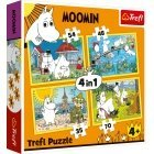 TREFL Moomins, 4 in 1 puzzle, 35 + 48 + 54 + 70 pieces