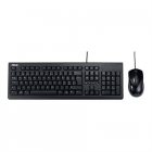 Asus U2000 Keyboard and Mouse Set, Wired, Keyboard layout