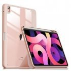 """INFILAND Crystal series Smart Slim Tablet PC book case for Apple iPad Air 4 10.9"""" (2020) Pink"""
