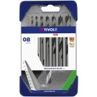Tivoly Wood drill set (for soft wood and hardwood) Clipster PRO 8pcs Ø2-10mm