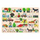 "Bino Large wooden puzzle ""Farm"", 2+"