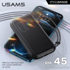 USAMS CD150 PowerBank with Lanyard 10 000 mAh 2x USB 2A + Type-C / Micro USB / White