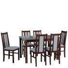 Extendable dining table 140-180x80cm + 6 chairs