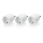 Transition DELTACO SMART HOME WiFi 2.4GHz, 1xCEE 7/3, 10A, 220-240V, 3pcs. in pack, white / SH-P01-3P