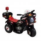 Black children's motorcycle with side wheels (WDLQ998)