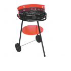 Grill with wheels