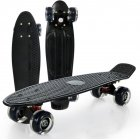 Fishboard with lighted castors, black