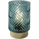 Airam Melodi table lamp, battery operated, 12.5 cm, green