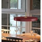 Umage Asteria pendant lamp, ruby red, brass