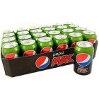 Pepsi Max Lime soft drink, 330 ml, 24-pack
