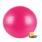 Gym ball with pump 75cm, pink