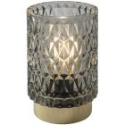 Airam Melodi table lamp, battery operated, 12.5 cm, gray