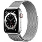 Apple Watch 6 GPS + Cellular 44mm Stainless Steel Milanese Loop, silver (M09E3EL/A)