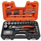 """Bahco Head Set 1/4 """"+1/2"""" for 4-27mm heads, ratchet ratchets + long and short nozzles. 79pcs"""