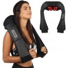 Reach Neck and Shoulder Shiatsu Massager with heating function F718B black