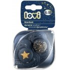 LOVI silicone dynamic soothers STARDUST, blue, 6-18 months, 2 pcs., 22 / 894_blue