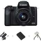 Canon EOS M50 SLR camera, webcam package