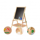 Large double-sided magnetic board for drawing and playing with accessories