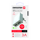 Swissten MFI Premium Apple Certified Travel Charger USB 3А / 15W With Lightning (MD818) Cable 1.2m Baltas