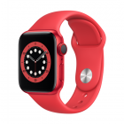Apple Watch Series 6 GPS + Cellular, 40mm (PRODUCT) Red Aluminum Case with (PRODUCT) Red Sport Band - Regular LT