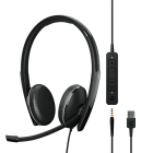 Ausinės EPOS SENNHEISER ADAPT 165T USB II WITH USB-A, 3.5MM JACK WIRED DOUBLE-SIDED INLINE CALL CONTROL MS