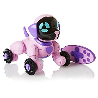 WowWee Chippies Chippette Robot Toy Dog roosa