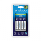 Eneloop White charger K-KJ17MCC40E advanced + 4 white AA batteries / min. 1900 mAh
