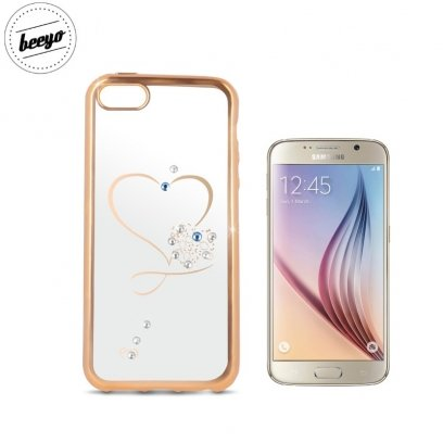 2224c96e9bf6 Beeyo Glamour Series Heart TPU Clear super slim Back cover case for Samsung  G920F Galaxy S6 with Gold frame - Frog.ee