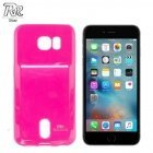 "Roar Card Pocket Jelly Ultra Thin Back Case Apple iPhone 6 6S 4.7"" with card slot Pink (EU Blister)"
