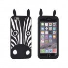 Forcell Soft Silicone 3D Back Case Samsung G920 Galaxy S6 Black Zebra