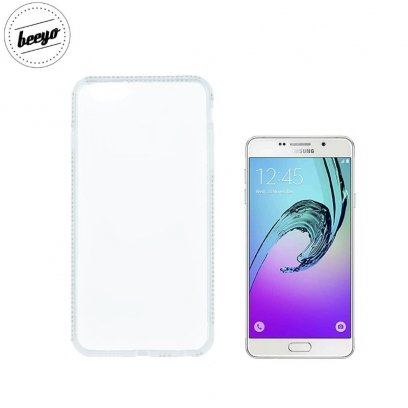 Beeyo Diamond frame super thin silicone clear back cover case for Samsung A310F Galaxy A3 (2016) White - Frog.ee