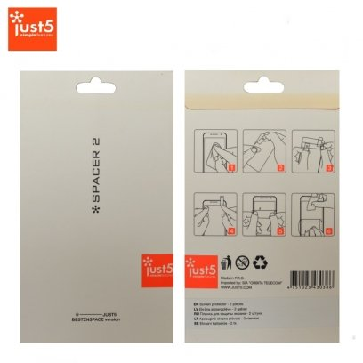 948f624dc09 Just5 Spacer 2 Screen protector Glossy (set of 2pcs. for Front) - Frog.ee