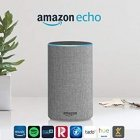 Amazon Echo (2nd gen.), Smart speaker with Alexa, Light gray fabric