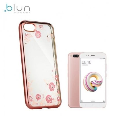 online retailer 8af85 95735 Blun DIAMOND ultra thin silicone back cover case for Xiaomi Mi A1 / Mi 5X  with Rose gold frame
