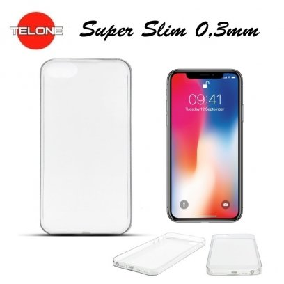 Telone Ultra Slim 0.3mm Back Case Apple iPhone XS Transparent