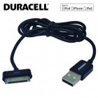 Duracell Mfi Cerified USB to Apple 30pin Data Sync & Charger Cable 1m (MA591)