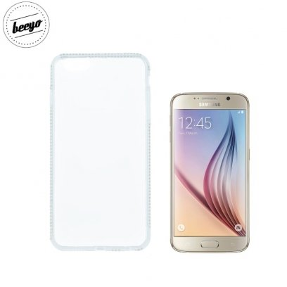 Beeyo Diamond Frame Super Thin Silicone Clear Back Cover Case For