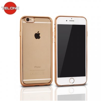quality design b3633 d7791 Telone Super Thin Transparent Silicone Back Case Xiaomi Redmi 5 with Gold  color frame