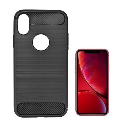 TakeMe CARBON effect TPU super thin back cover case for Apple iPhone XR Black
