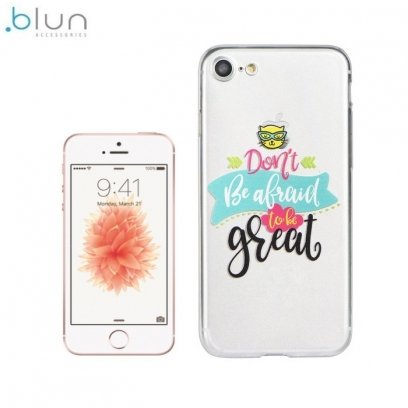 Blun ART Ultra thin TPU back cover case with picture for Apple iPhone 5 5S iPhone SE Don't be afraid - Frog.ee