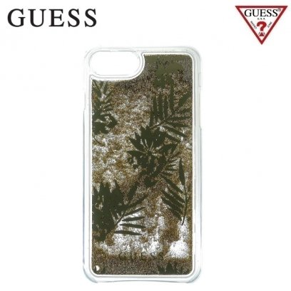 finest selection 52f9a 5be32 GUESS GUHCP7GLUPRG Liquid Glitter Hard plastic back cover case Apple iPhone  6 / 6S / 7 4.7inch Palm Green